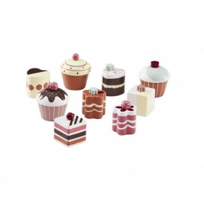 Brownish Wooden Toy Cakes