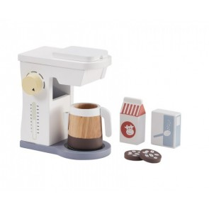 White Wooden Coffee Maker Set