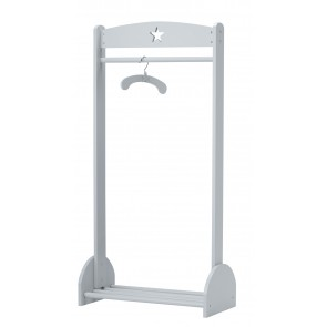 Grey Wooden Clothing Rail