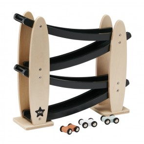 Neo Wooden Car Track in Naturalwood and Black