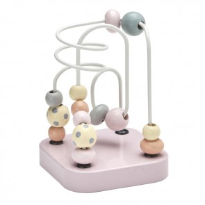 Edvin Mini Wooden Bead Maze in Powder Pink
