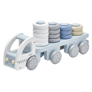 Blue Wooden Stacking Truck