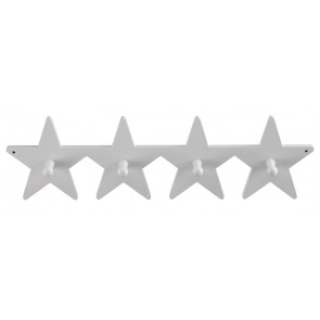 Grey Wooden Star Clothes Hook Board
