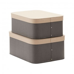 A Set of 2 Storage Boxes in Grey