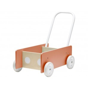 Wooden Baby Walker in Apricot