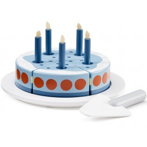 Blue Wooden Birthday Cake