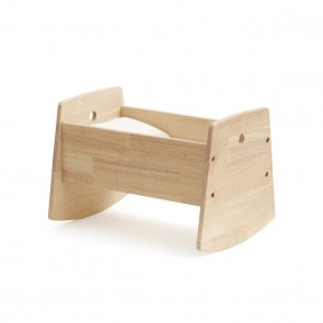 Wooden Dolls Cradle with Bedding