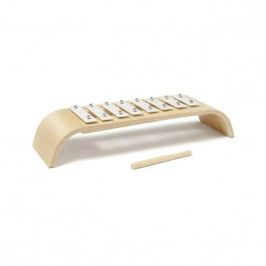 Round Wooden Xylophone in White/ Natural