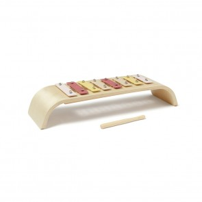 Round Wooden Xylophone in Pink/ Multi