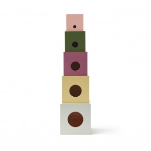 Edvin Wooden Stacking Cube Boxes
