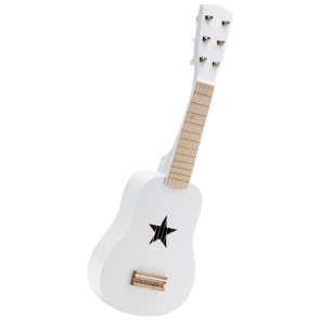 White Wooden Guitar