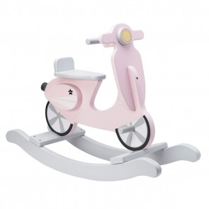 Wooden Rocking Scooter in Pastel Pink