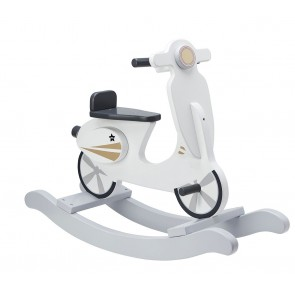 Wooden Rocking Scooter in White/Grey