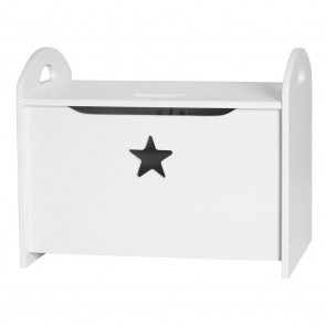 Storage Chest Star in White