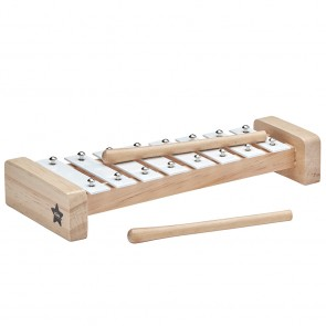 Wooden Xylophone in White/ Natural