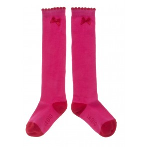 Knee-Highs in Pink with Red