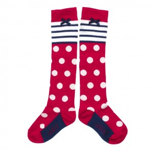 Stripy Knee-Highs with Dots