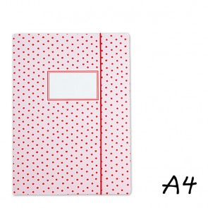 DIN A4 Pink Elasticated Folder with Dabs