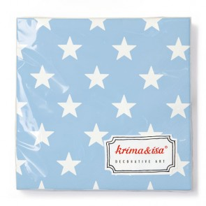 Light Blue Napkins with Stars