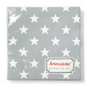 Grey Napkins with Stars