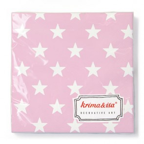 Lightpink Napkins with Stars