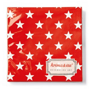 Red Napkins with Stars