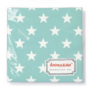 Turquoise Napkins with Stars