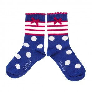 Set of 2 Blue and Red Socks