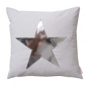 Star Cushion in Grey