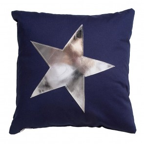 Star Cushion in Dark Blue