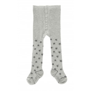 Baby Glittery Star Tights in Grey