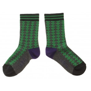 Graphic Socks in Green and Grey