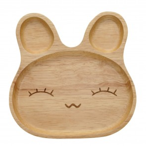 Wooden Bunny Plate