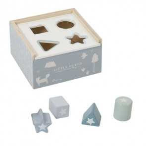 Wooden Shape Sorter in Adventure Blue