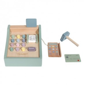 Wooden Toy Cash Register in Mint