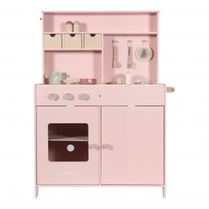 Wooden Kitchen in Pink
