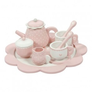 Wooden Tea Set Pink