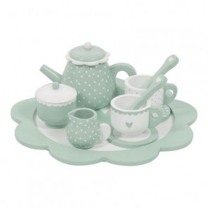 Wooden Tea Set Mint