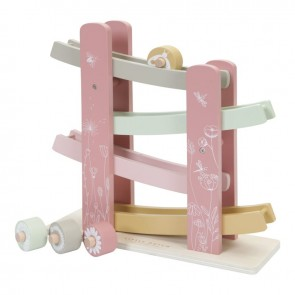 Wooden Race Track Wild Flowers Pink