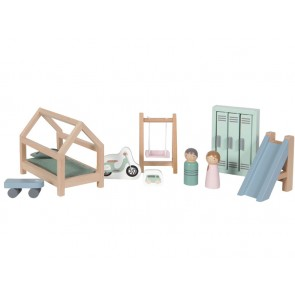 Wooden Doll House Play Set 'Kids Room'