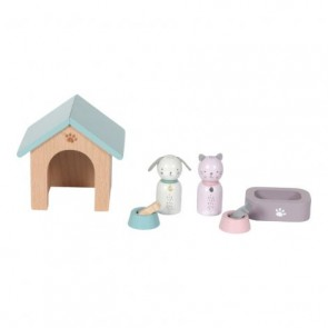 Wooden Doll House Play Set 'Pets'