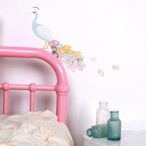 Mini Peacock Wall Sticker