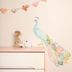Large Peacock Plumage Wall Sticker