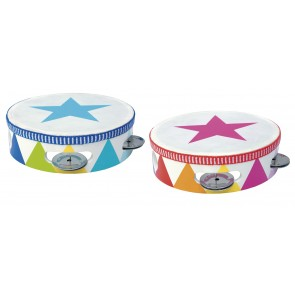Colourful Wooden Tambourine