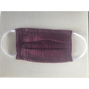 Muslin Mouth and Nose Mask in Bordeux Red - Age 3-7 Years