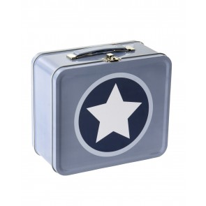 Star Metal Suitcase in Denim