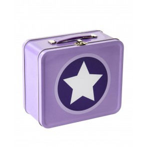 Star Metal Suitcase in Lavender