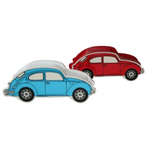 Retro Beetle Money Box in Blue