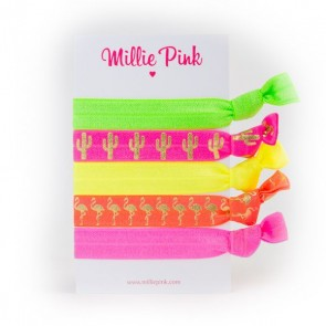 Elastic Hair Ties Fiskardo Flamingo