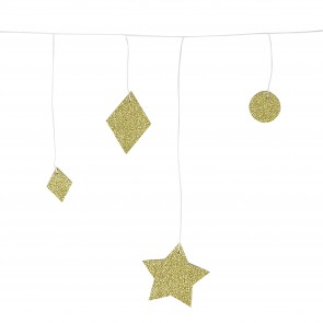Glitter Garland Gold Geometric
